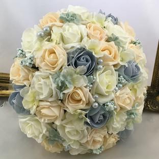 Artificial mixed roses bridal bouquet