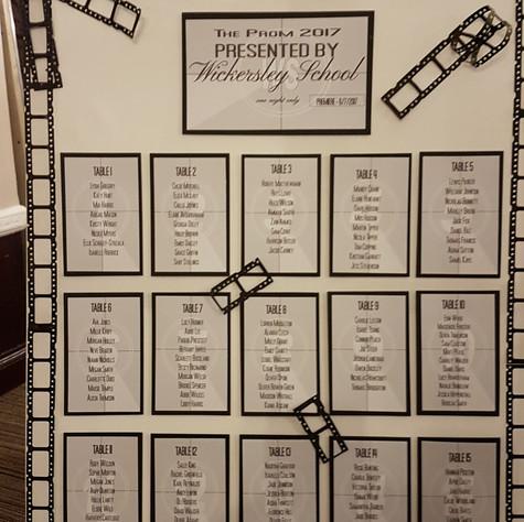 Movie Reel Table Plan
