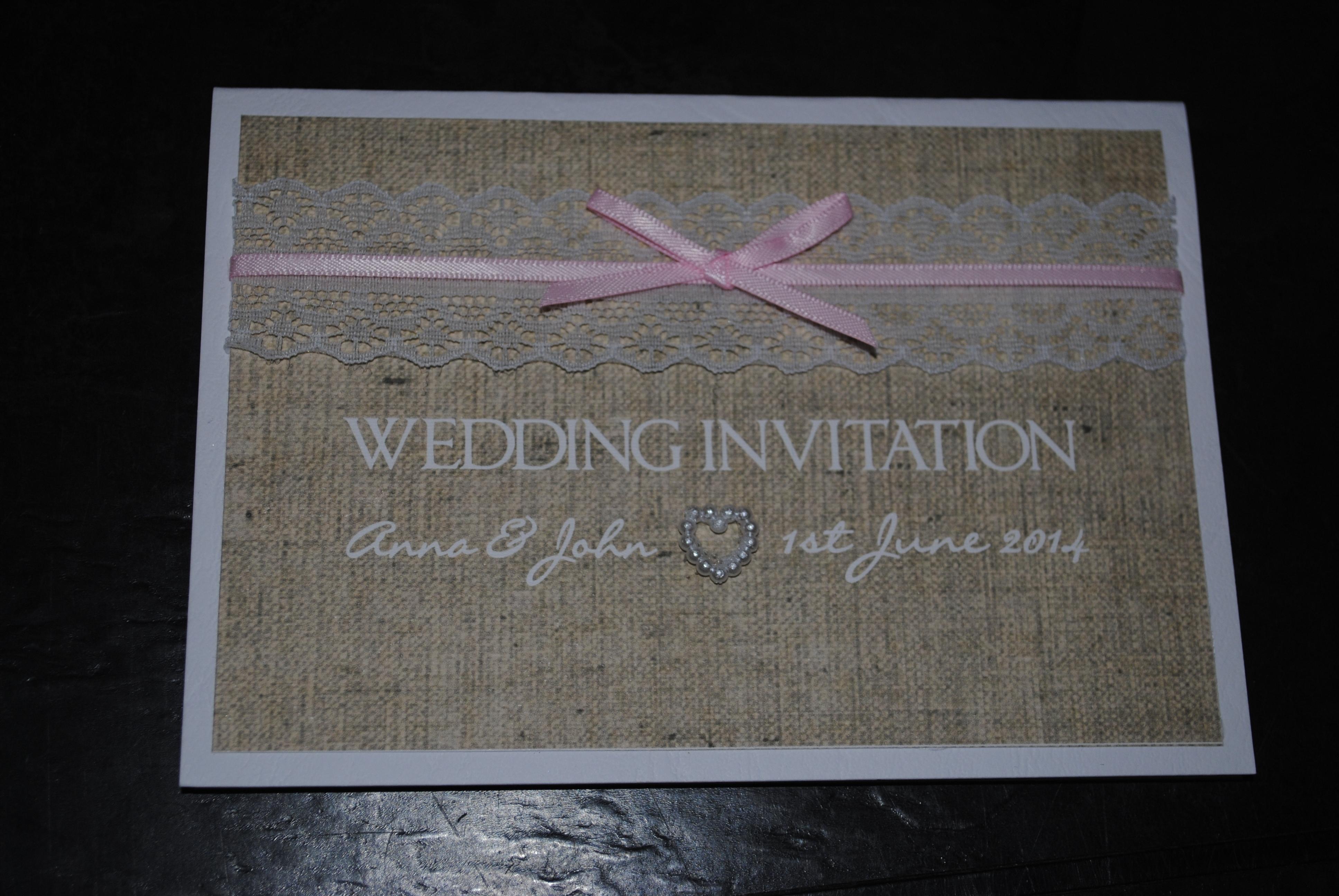 Burlap & Lace Standard Invitation