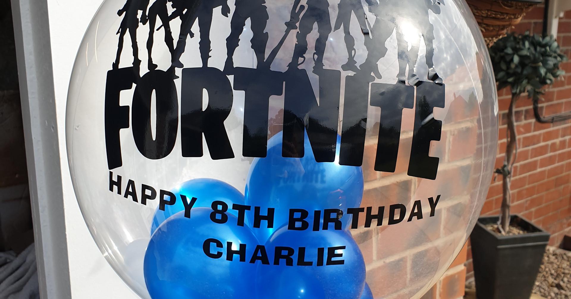 Fortnite birthday bubble balloon