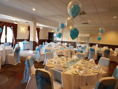 Doubl Bubble Balloon Trios & Chair Covers with Sash