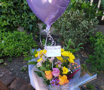 Lilac heart foil balloon