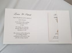 Dior Bow Square Pocket Invitation