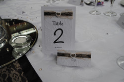 Table number & name card