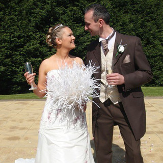 Ivory Feather Bouquet