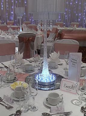 Silver Art Deco Lamp Hire