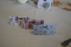 Teacup Name Cards