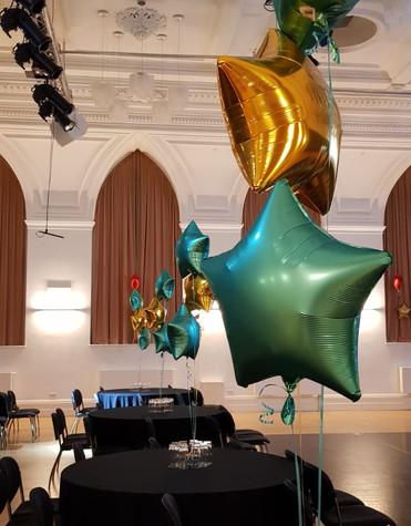 Jade & gold foil trio of balloons
