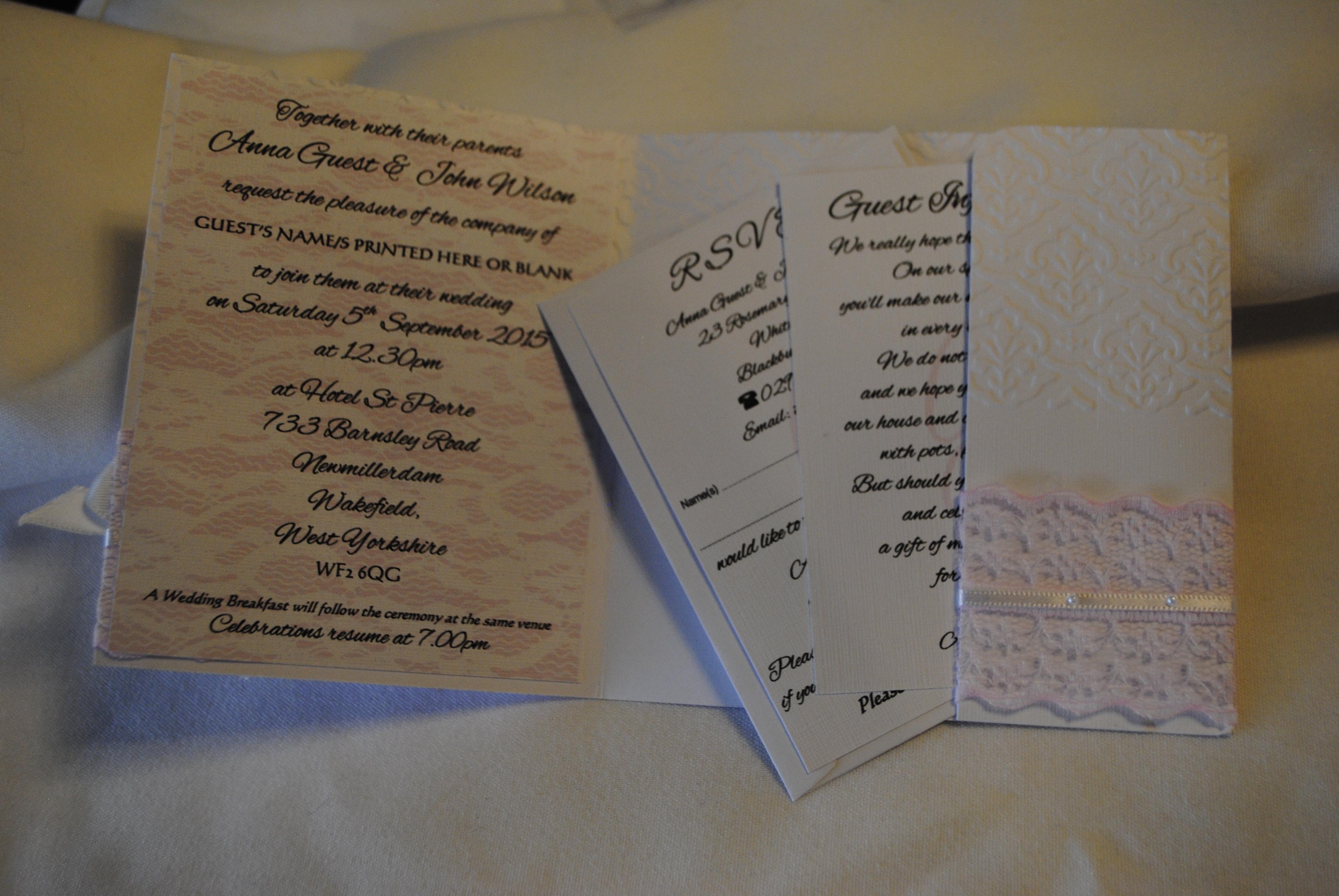 Chantilly Invitation Inside