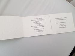 Dior Bow Cheque Book Invitation