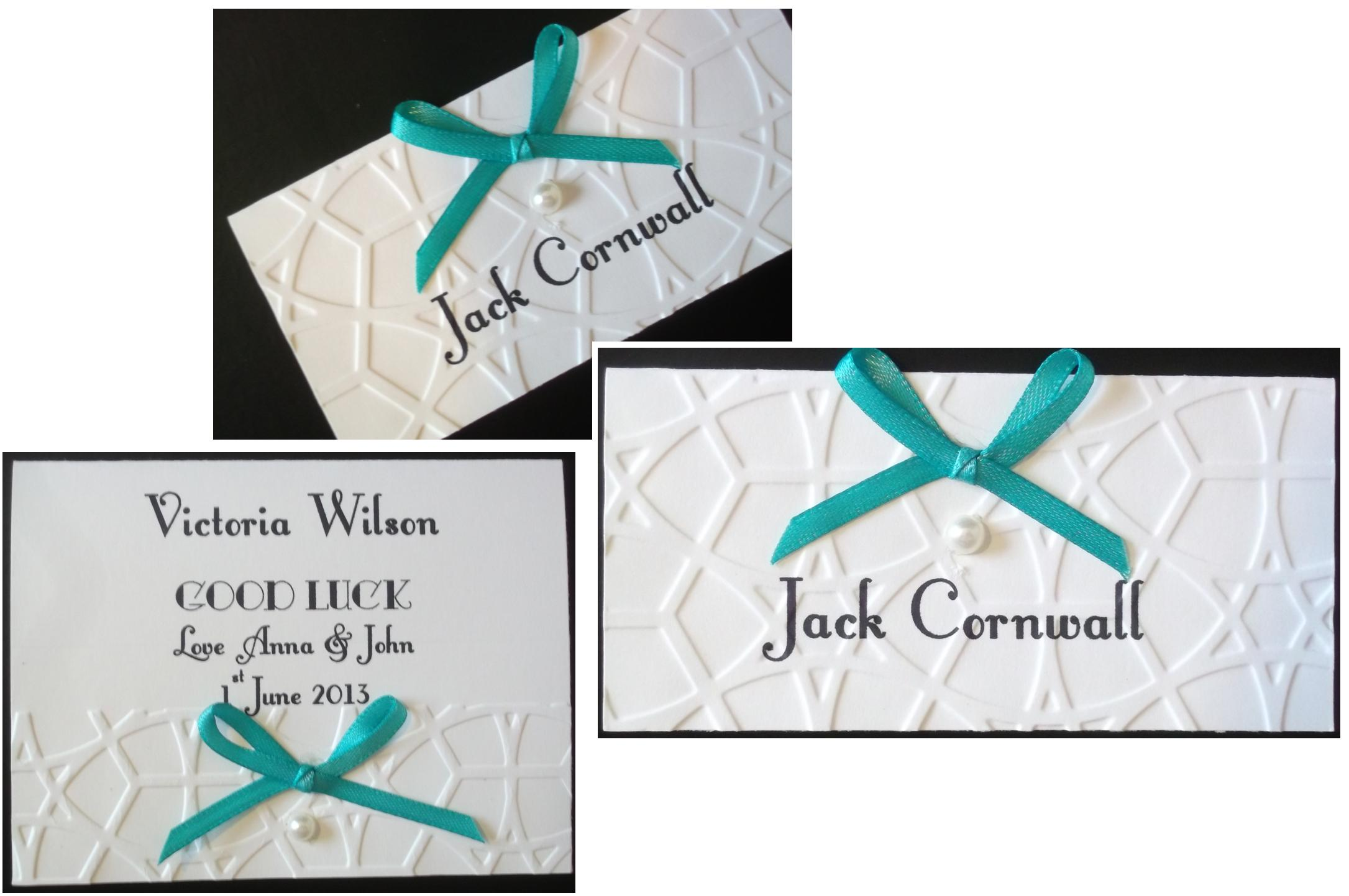 Lace Bow Scratchcard/Name Card