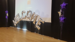 WELCOME Silver Letters