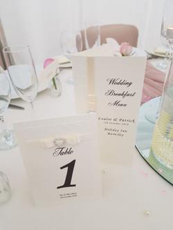 Dior Bow Table Number & Menu