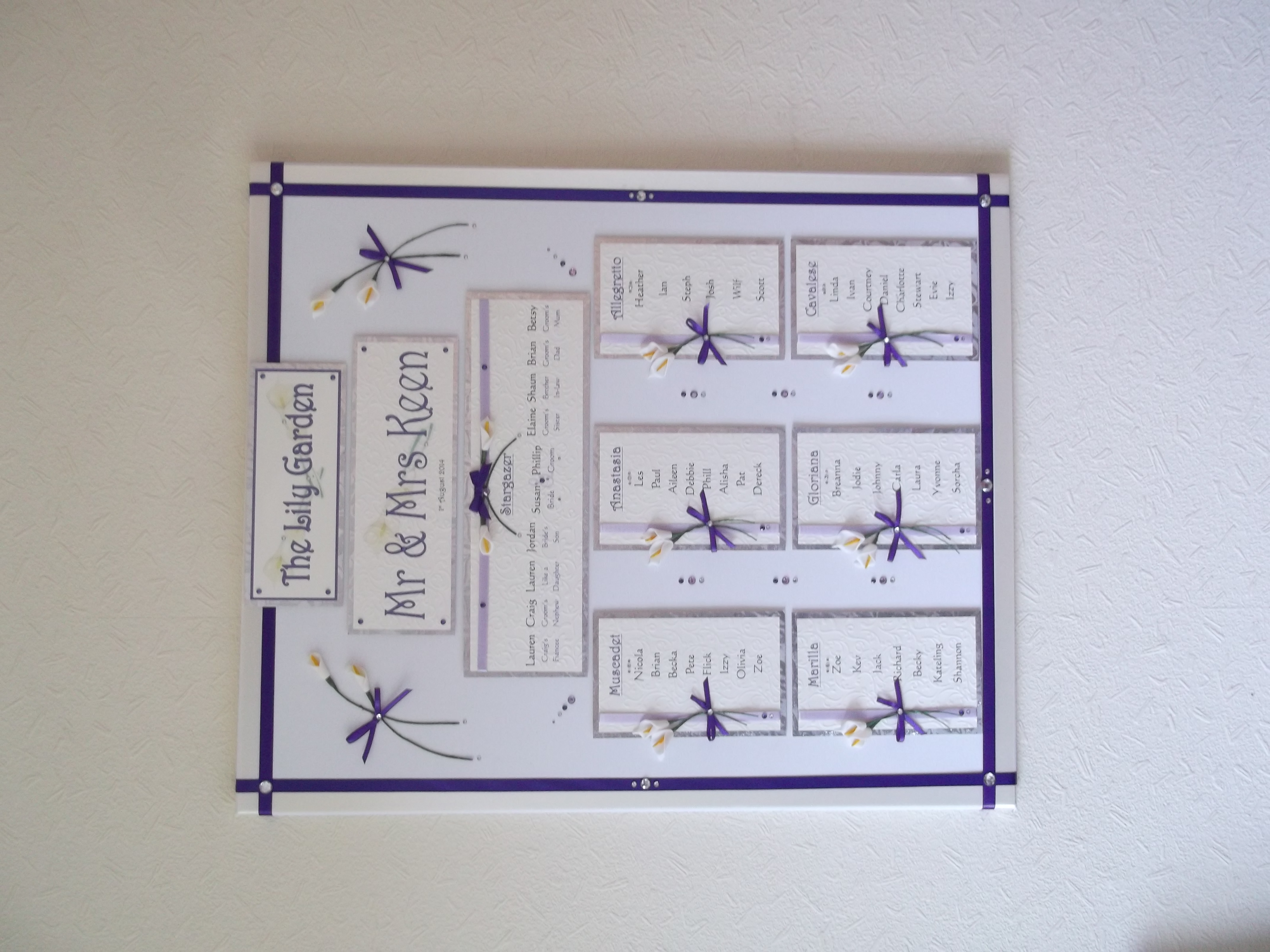 Calla Lily Table Plan