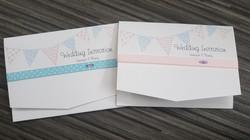 Bunting Pocket Fold Invitations