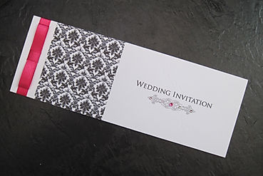 Damask Cheque Book Invitation