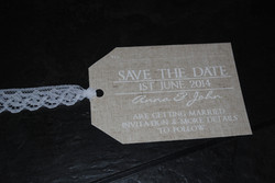 Burlap & Lace Save The Date