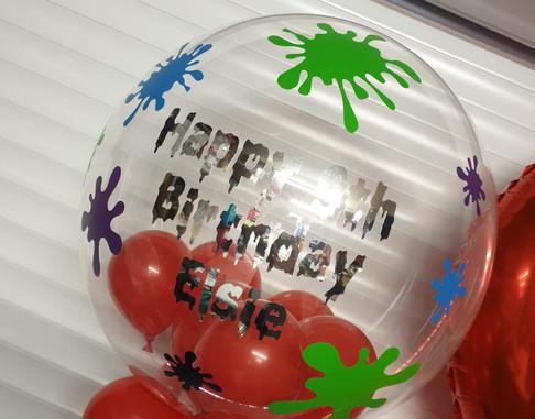 platter slime birthday bubble balloon