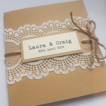 Scalloped Lace Square Pocket Invitation