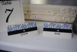 Contemporary Swirl Name Cards