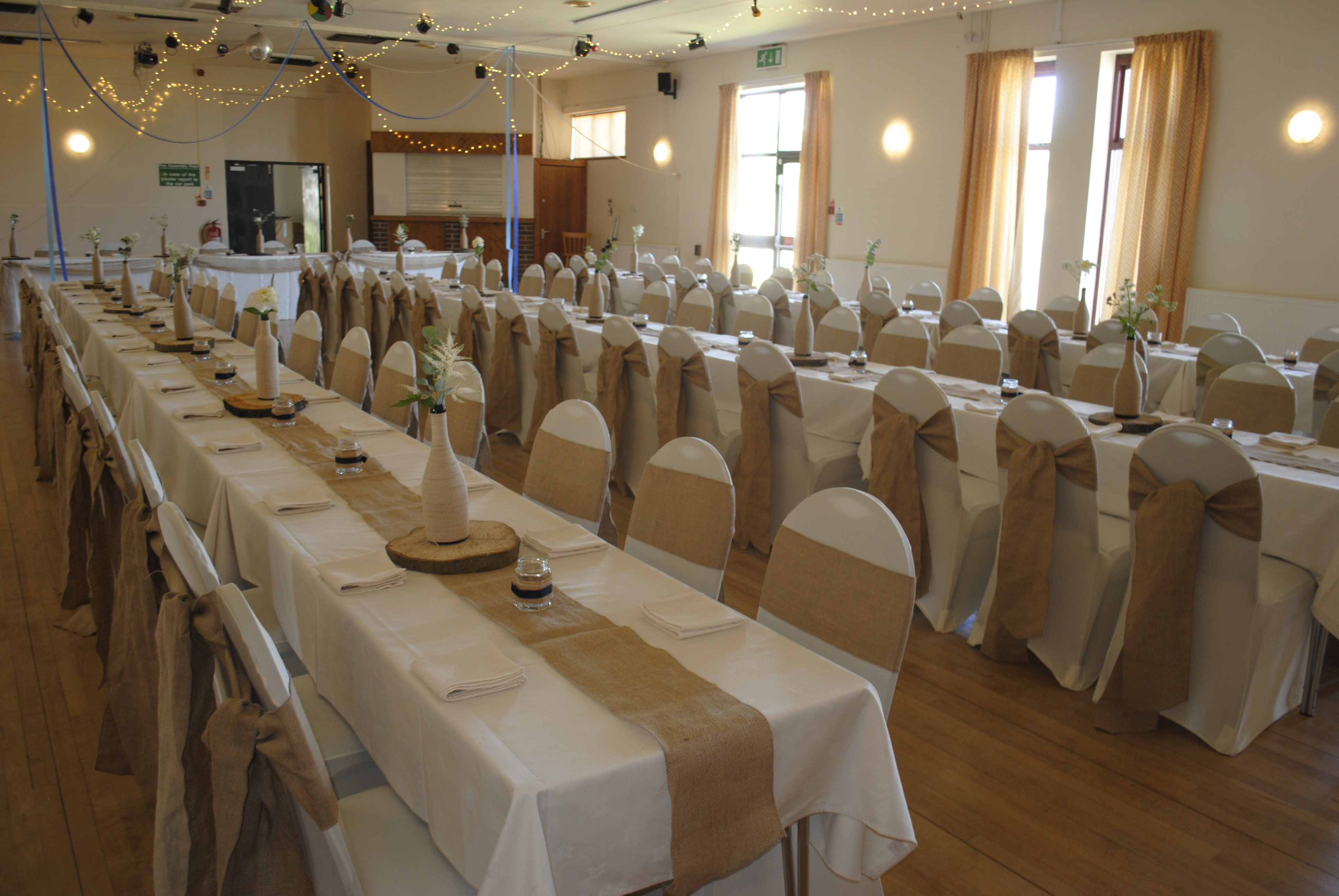 Hessian Cathedral Tied Village hall