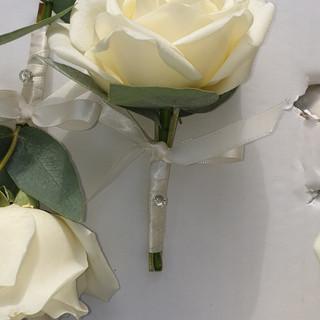 Fresh Ivory Rose Buttonhole
