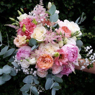 Fresh Mixed Roses & Astilbe Bouquet