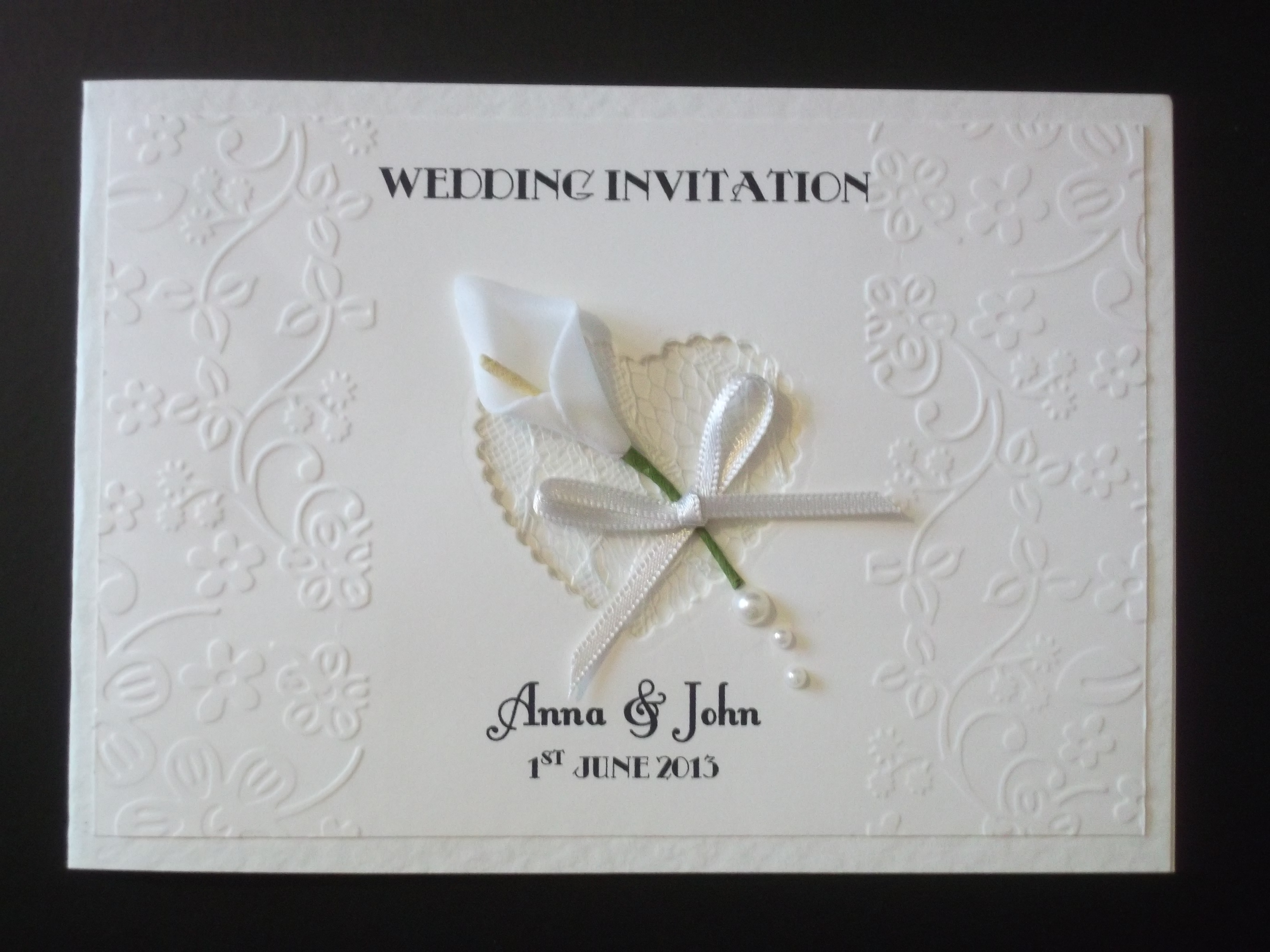 Calla Lace Wedding Invitation