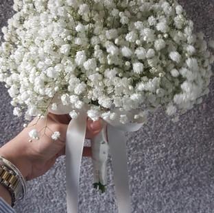 All gyp bridesmaid bouquet
