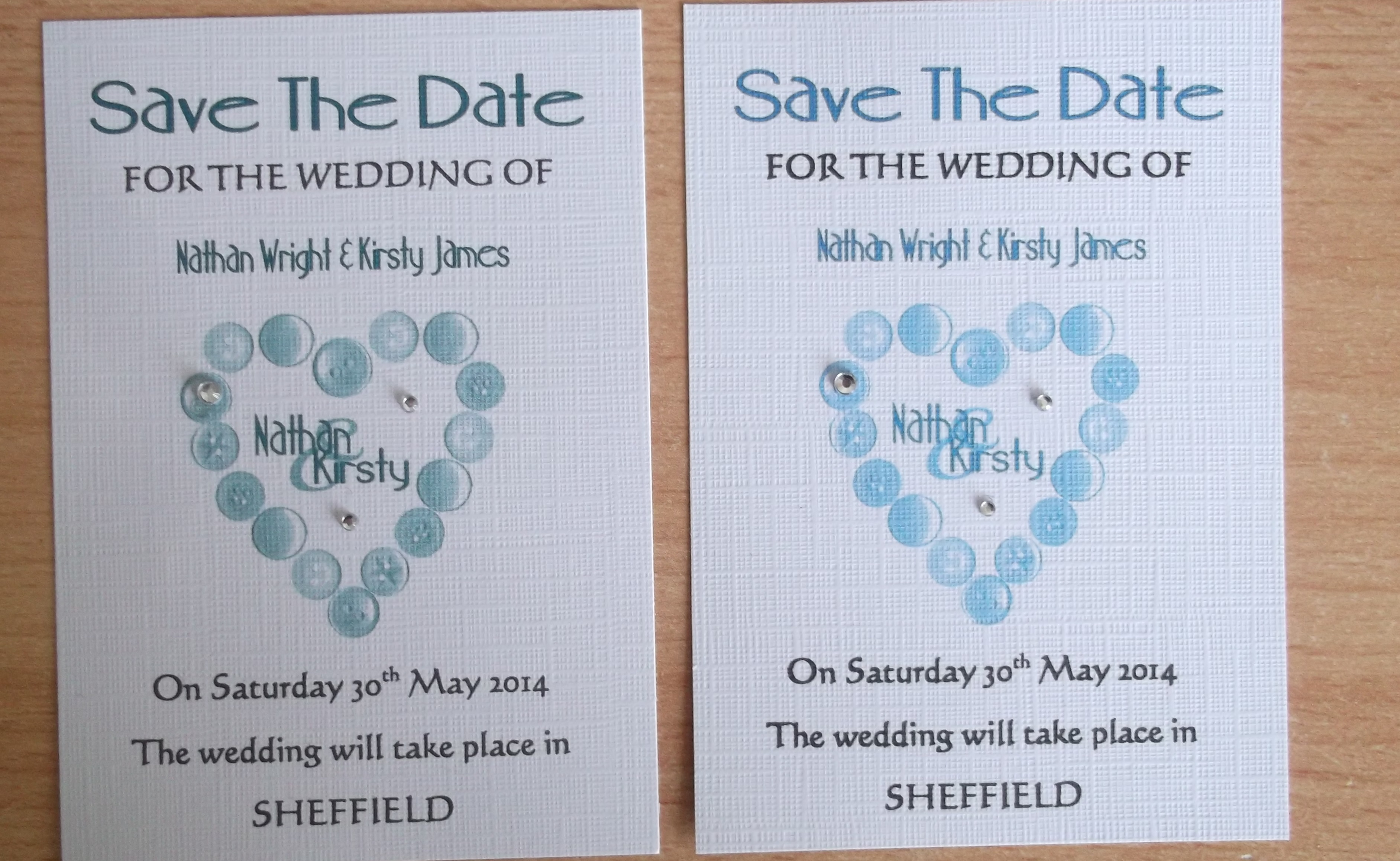 Beau Button Save The Dates