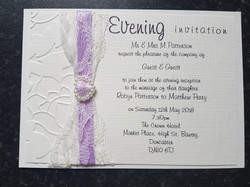 Deluxe postcard evening invitation