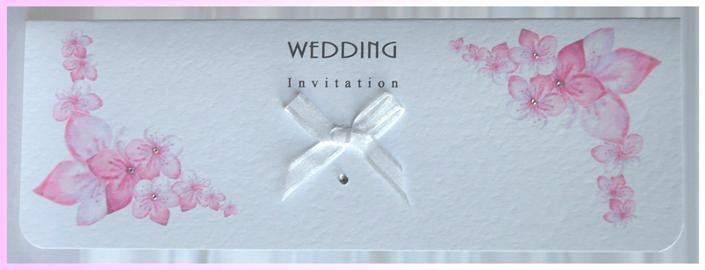 Cherry Blossom Oblong Invitation