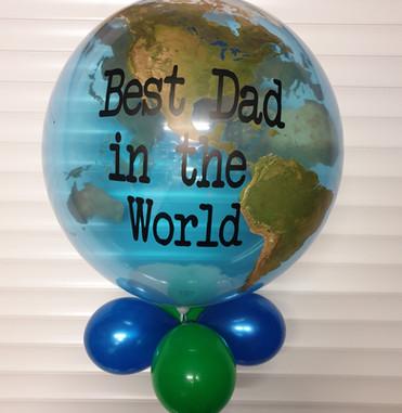 Translucent World Orbz balloon