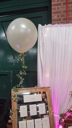 3ft white balloon with ivy tail