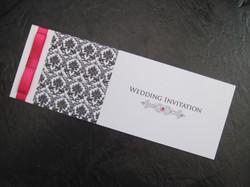 Damask Cheque Book Invitation