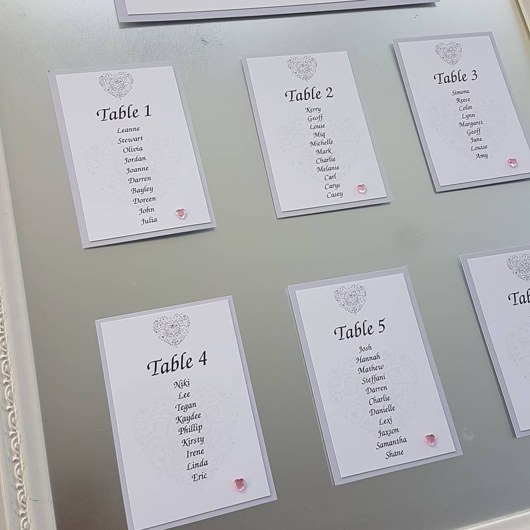 Ornate Heart Table Plan