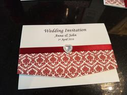 Damask Pocket Fold Invitation