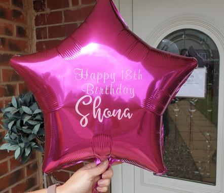 Hot ink star foil balloon