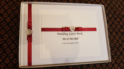 Dior Bow Red Guest Book