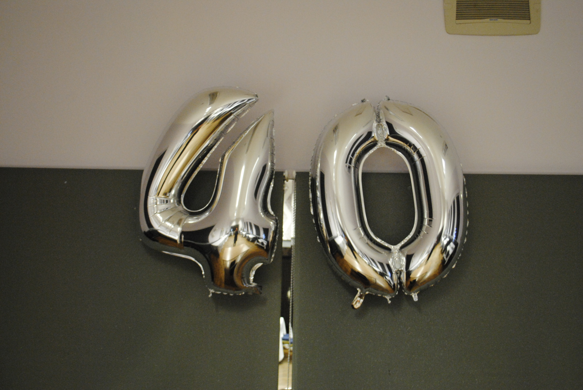Silver Foil Number Balloon 40