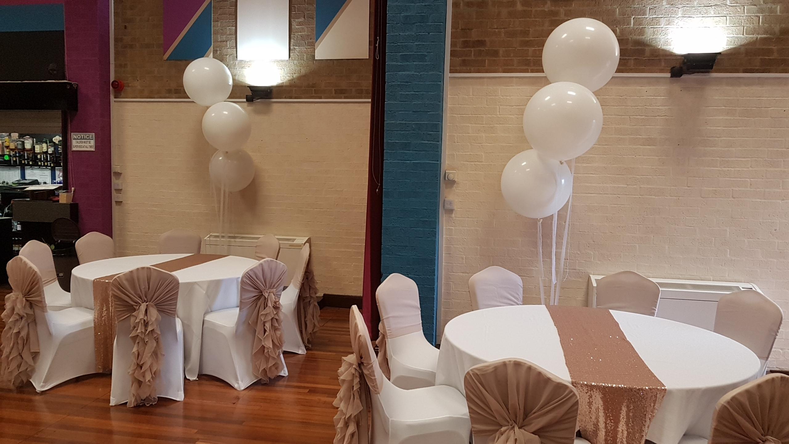 All white 3ft balloons