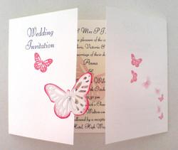 Flutter Butterfly Gatefold Invite