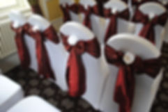 Chair cover & taffeta sash hire