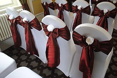 Chair cover & taffeta sash hire