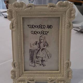 Alice in wonderland table numbers