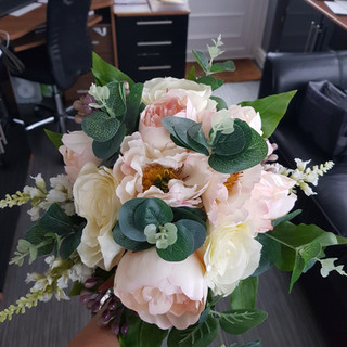 Artificial Mixed Pink & Ivory Peony Bouquet