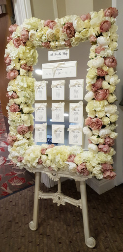 Tying The Knot Table Plan On Flower Framed Table Plan