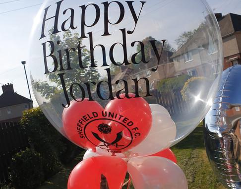 Sheffield United birthday bubble balloon
