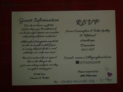 Dior Romance Single Postcard Invite