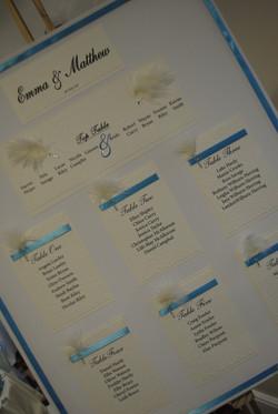 Diamante Feather Canvas Table plan